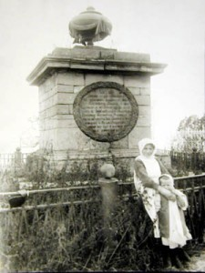 The tomb of Rezanov in Krasnoyarsk, destroyed by Bolsheviks in 1932.