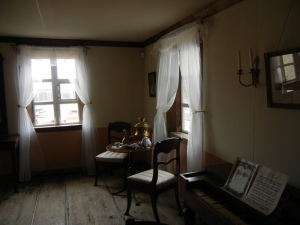 The interior of Rotchev House.