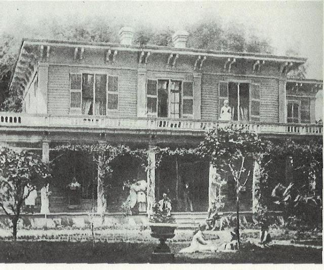 Home of Josiah Belden in San Jose (no longer in existence.)