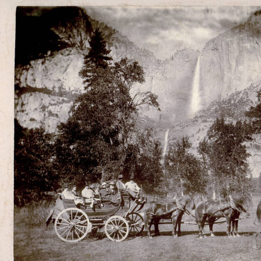 President and Mrs. Hayes visit Yosemite, California. Image courtesy of Ohio Memory Collection.
