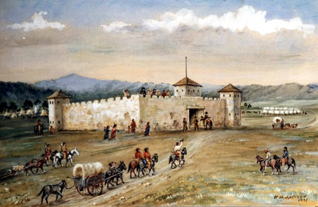 Fort Laramie, by William Henry Jackson