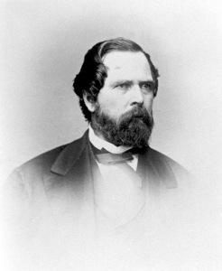 John Bidwell in 1867, at the time he was courting Annie.