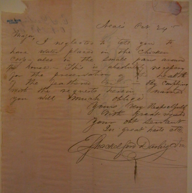 Letter courtesy California State Library, John Bidwell Papers.