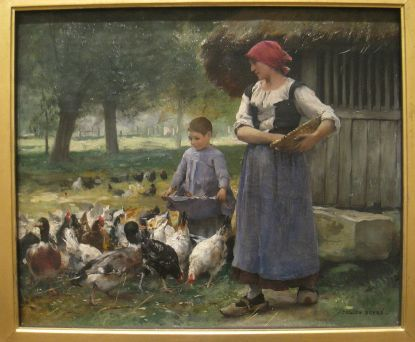 Farm_Girl_Feeding_Chickens